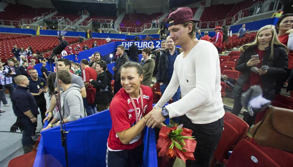 <strong>BRUDD:</strong> Nora Mørk bekreftet i begynnelsen av desember at hun og Stefan Strandberg har gått hver til sitt. Foto: Bjørn Langsem / DAGBLADET