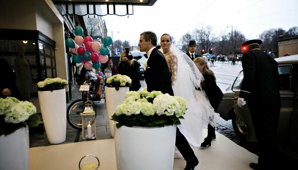 <strong>CELEBERT BRYLLUP:</strong> Fiolinist Marte Krogh og milliardær Jan Haudemann-Andersen giftet seg i 2014. To år senere ble det slutt. Foto: Anette Karlsen / NTB scanpix