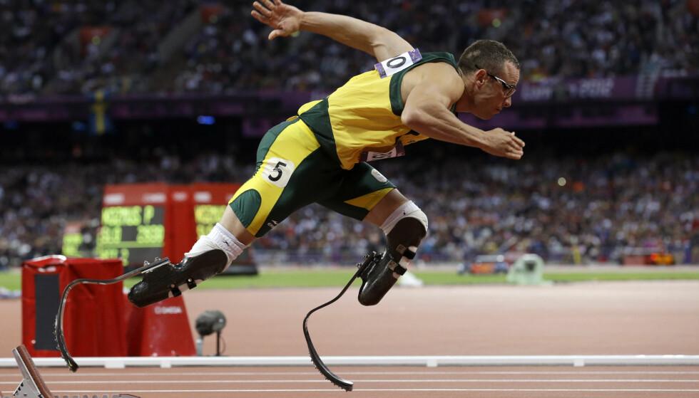 EN DRØM: Oscar Pistorius fikk stille til start under London-OL i 2012. Det var lenge en viktig kamp for ham. Foto: AP Photo/Anja Niedringhaus/NTB