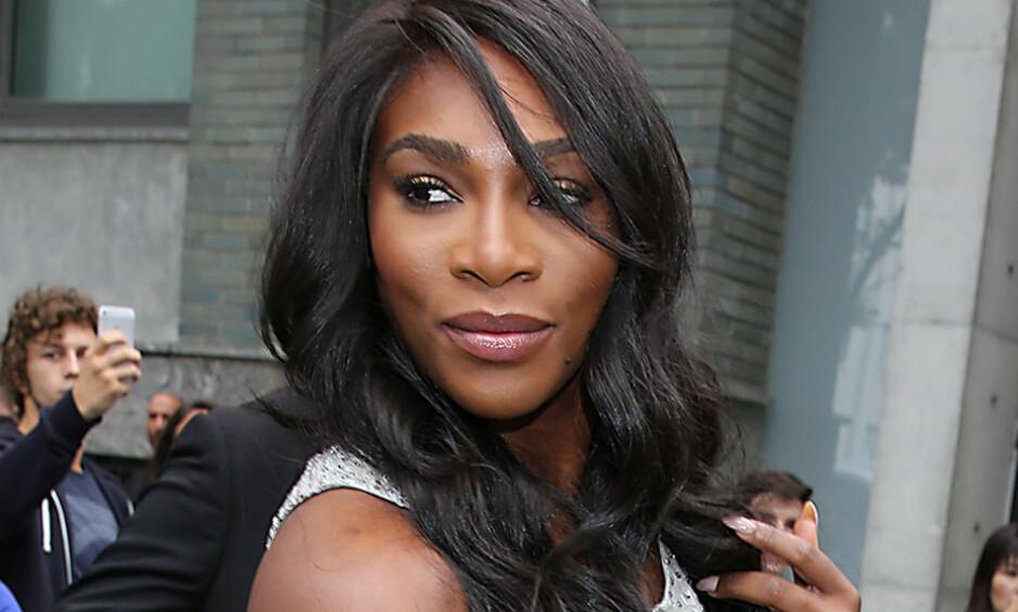 GRAVID: Tidligere denne uken hintet den amerikanske tennis-stjernen, Serena Williams, om at hun var gravid. Nå er det bekreftet. Foto: NTB Scanpix