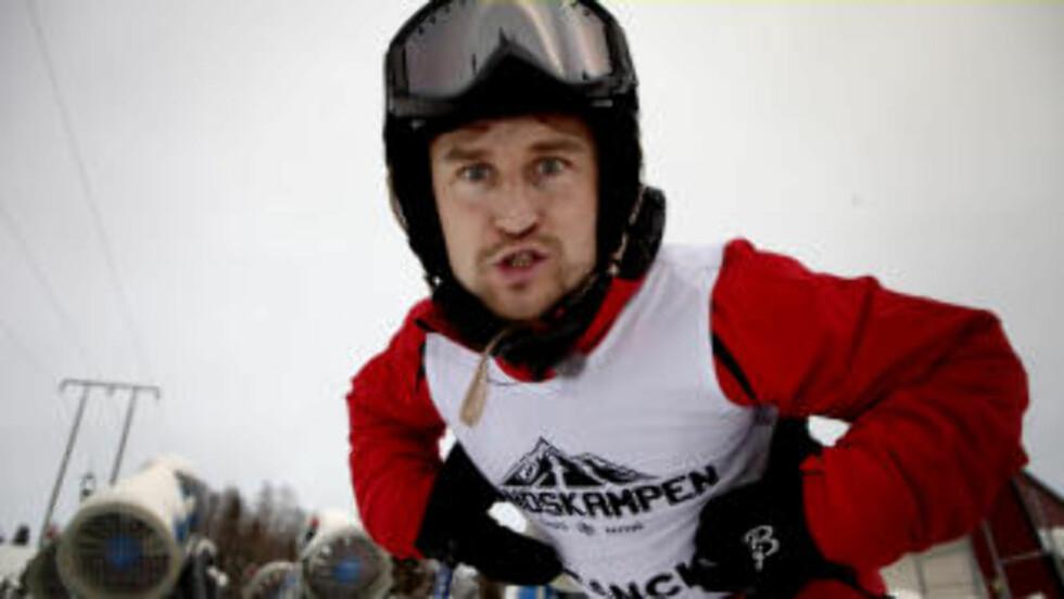 <strong>KLAR FOR KAMP:</strong> Daniel Franck med godt synlige Dæhlie-hansker. Foto: Lars Eivind Bones
