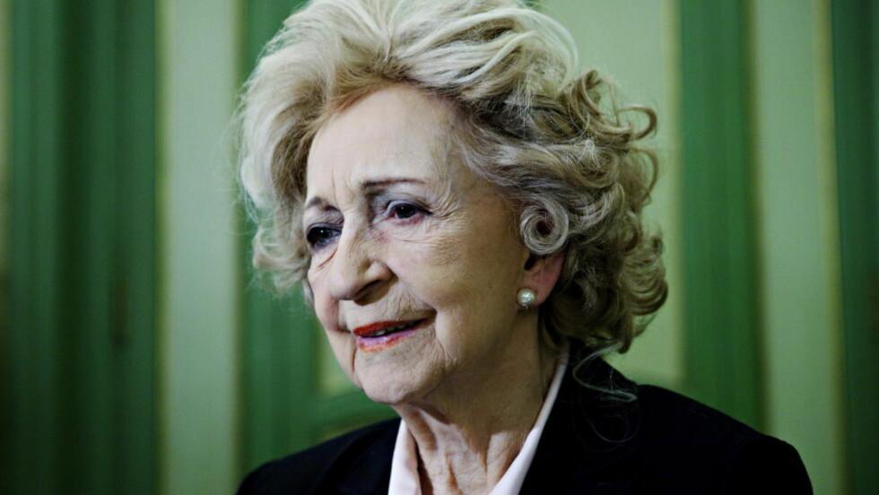 DØDE I DAG: Wenche Foss døde i dag, 93 år gammel. Foto: Nina Hansen / Dagbladet