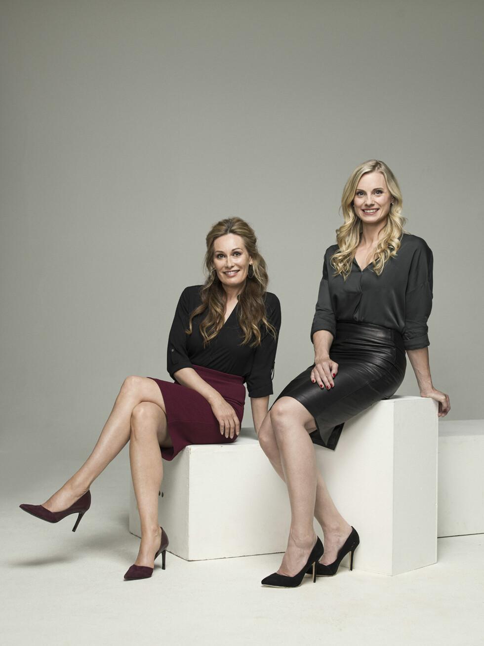 TV-SUKSESS: «Luksusfellen» er et av TV3s mest populære programmer. Her er Cecilie Lynum avbildet sammen med kollega SIlje Sandmæl (t.h.).  Foto: Rune Bendiksen/ TV3