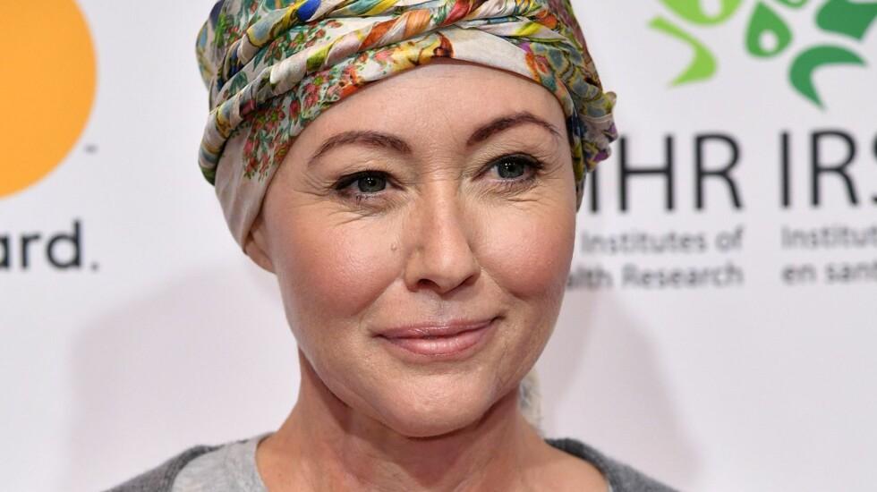 HARD KAMP: Skuespiller Shannen Doherty avslørte i august i fjor at hun har fått diagnosen brystkreft. Nå deler hun sin kamp via sosiale medier.  Foto: Rex Features