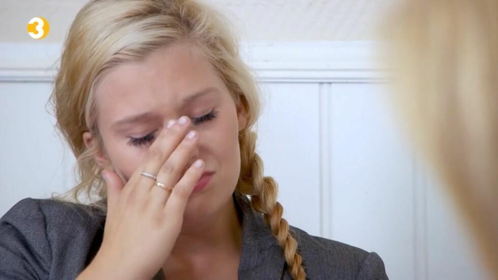 VILLE IKKE GRÅTE: Christina sier til Seoghør.no at hun ble overrasket da tårene begynte å trille under innspillingen. Foto: TV3