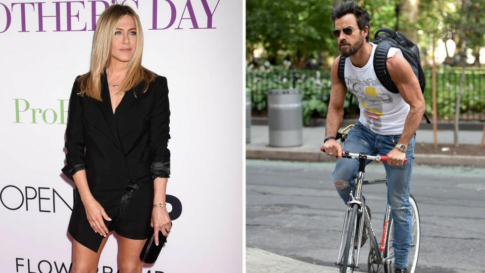MISUNNELIG ANISTON: Skuespiller Jennifer Aniston omtaler ektemannen Justin Theroux sin muskuløse fysikk som en gudegave. - Han ser lik ut uavhengig av om han trener eller ikke, mener hun. Foto: Scanpix