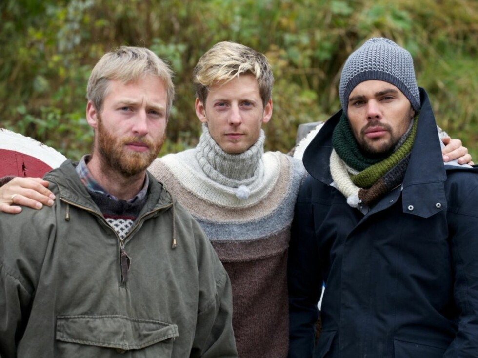KONTROVERSIELL: Andreas Nørstrud fikk mye oppmerksomhet for uttalelsene sine på «Farmen» i 2012. Her er han avbildet sammen med programleder Gaute og meddeltaker Jon Lundemoen.  Foto: Se og Hør