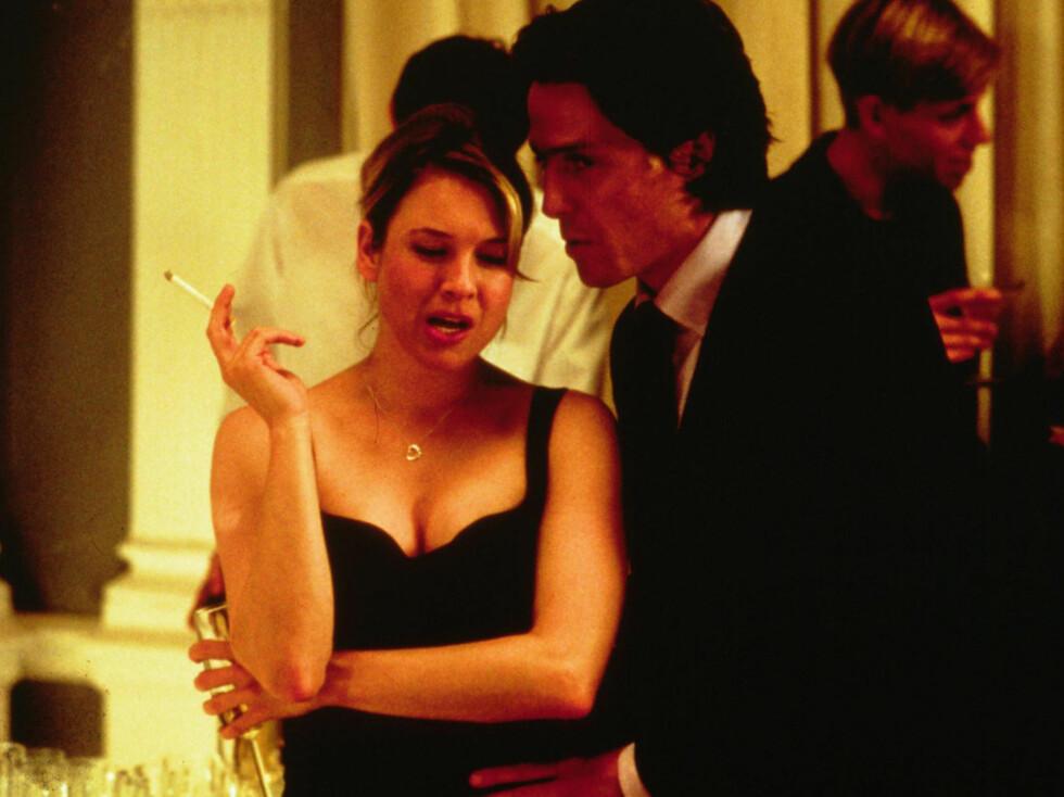 GIKK OPP: Renee Zellweger på sin side har gått motsatt vei. Hun gikk nemlig fra å være en radmager skuespiller, til å legge på seg noen kilog og bli normalvektig i den romantiske komedien «Bridget Jones's Diary».  Foto: Stella Pictures
