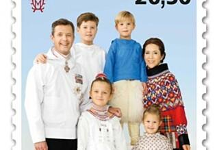 Den danske kongefamiliens frimerke vekker oppsikt