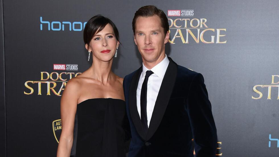 BLIR FORELDRE IGJEN: Skuespiller Benedict Cumberbatch og Sophie Hunter venter sitt andre barn sammen.  Foto: Pa Photos