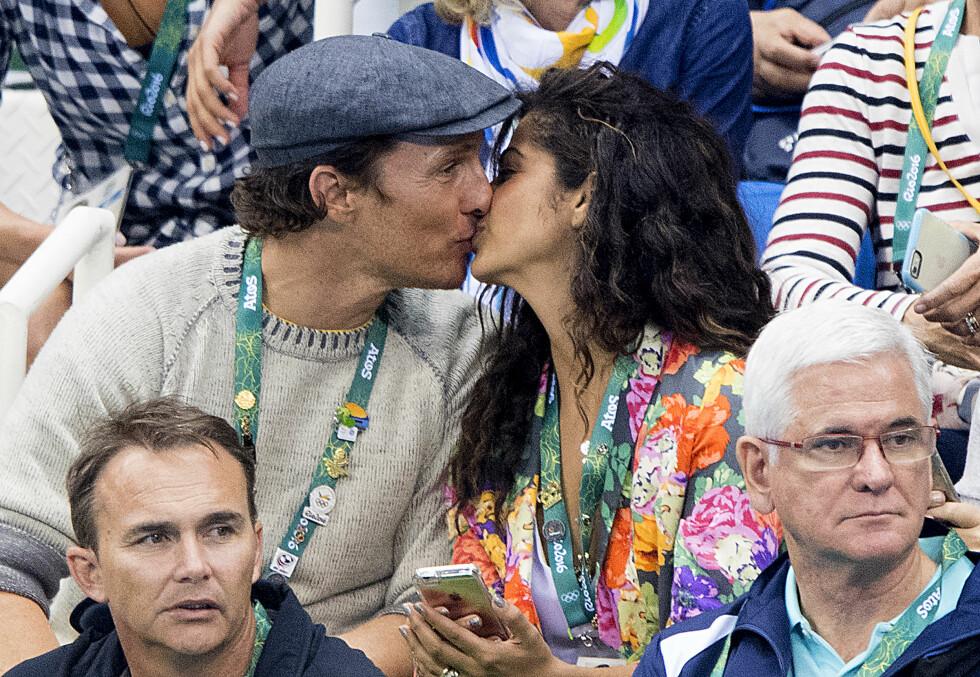 LIKE FORELSKET: Matthew og Camila viste følelser på tribunen under OL i Rio i august.  Foto: NTB Scanpix