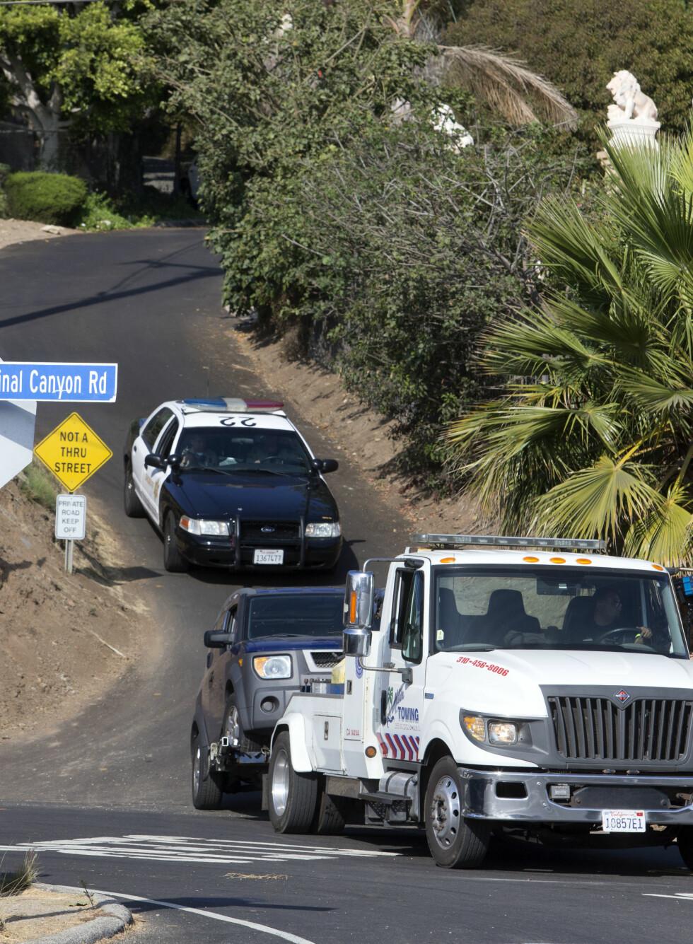 RYKKET UT: Politiet rykket ut til Miranda Kerrs hjem i Malibu etter en skyteepisode. Foto: NTB scanpix