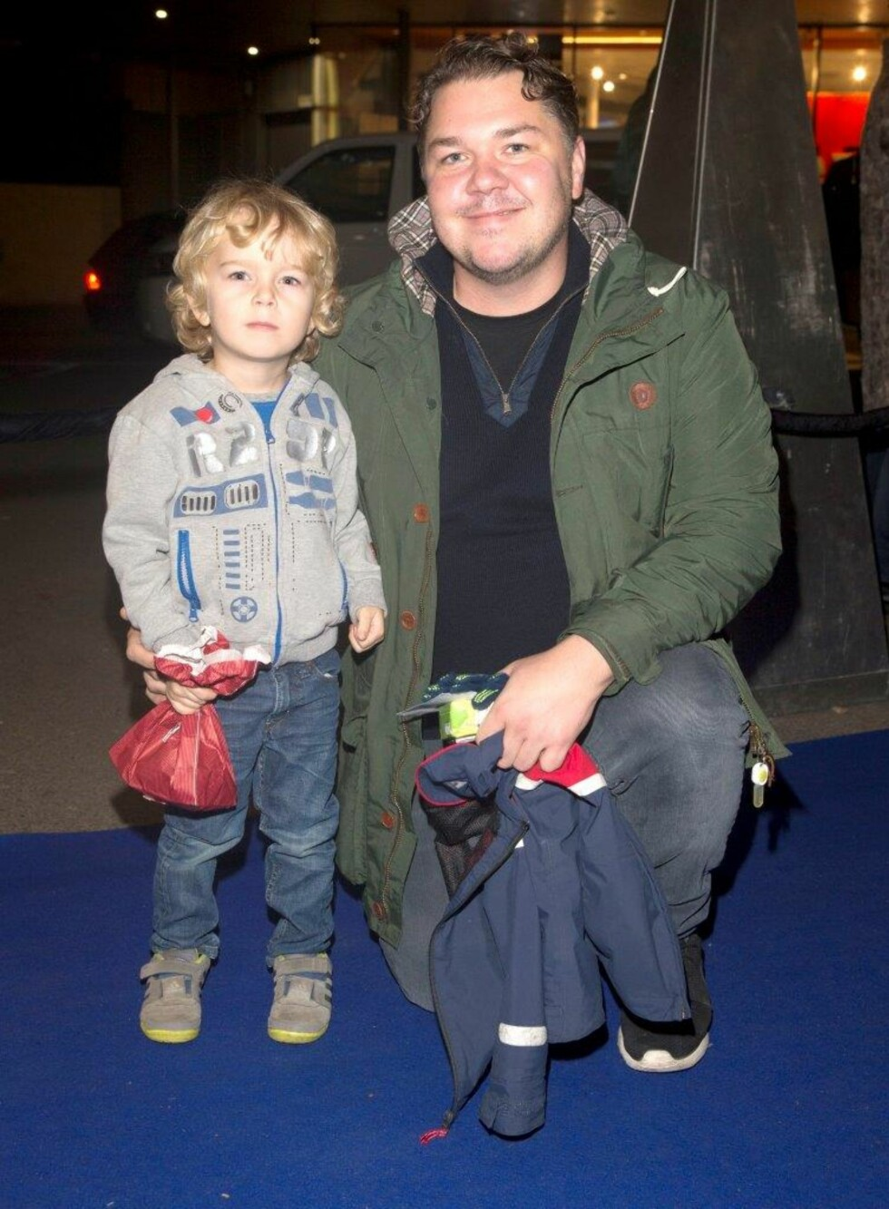 STOLT PAPPA: Her er Kaalstad avbildet med sønnen Hjalmar Aleksander. Foto: Andreas Fadum