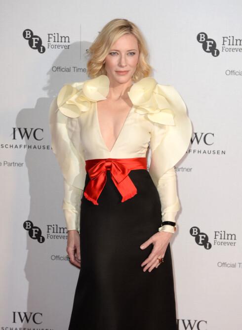 VAKKER KVINNE: Cate Blanchett er ti år eldre enn Katie, men likevel hennes skjønnhetsidol. Foto: Pa Photos