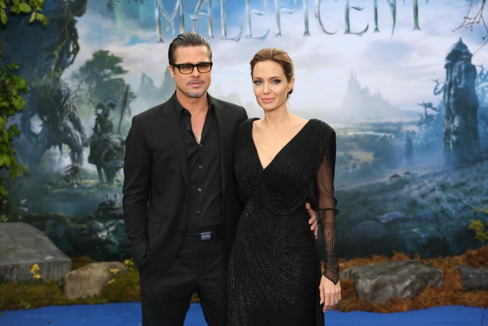 <strong>FIKK NOK:</strong> Angivelig har Brad og Angelina vært uenige om hvordan de skulle oppdra sine seks felles barn. Det skal ha vært noe av grunnen til at hun søkte om skilsmisse for et par uker siden.  Foto: wenn.com/ NTB Scanpix