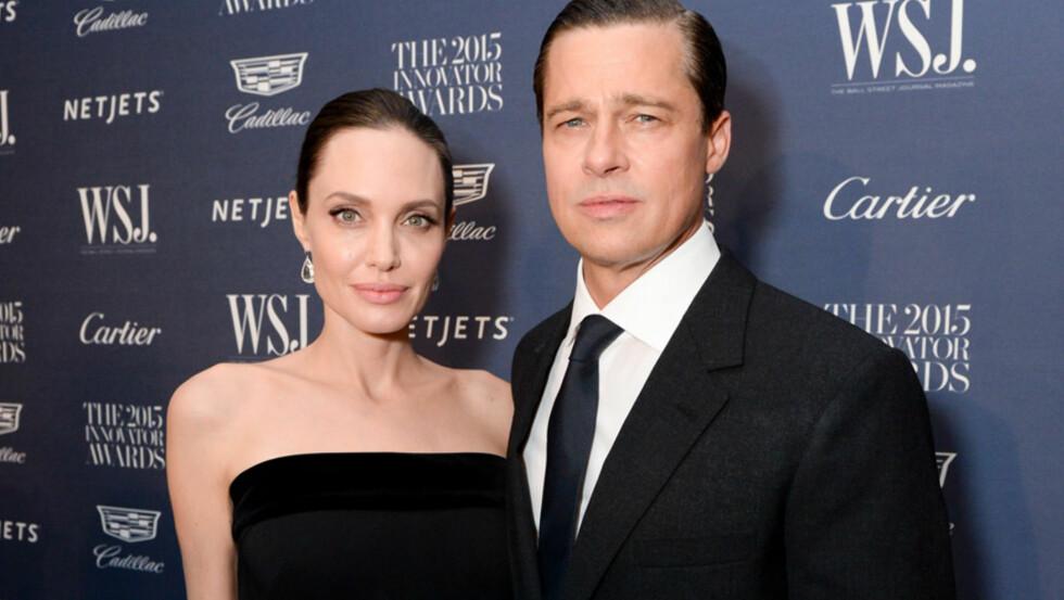 <strong>MIDLERTIDIG ENIGE:</strong> Hollywood-stjernene Angelina Jolie og Brad Pitt skal denne uken ha blitt enige om en omsorgsretts-avtale som barnevernet i Los Angeles har lagt frem.  Foto: Rex Features/ NTB Scanpix