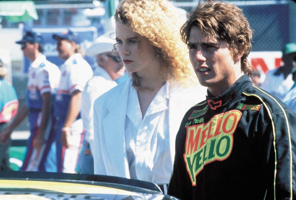 <strong>MØTTES PÅ JOBB:</strong> Nicole Kidman og Tom Cruise møttes under innspillingen av filmen «Days of Thunder» i 1990. De giftet seg i desember samme året.  Foto: PARAMOUNT PICTURES / Album