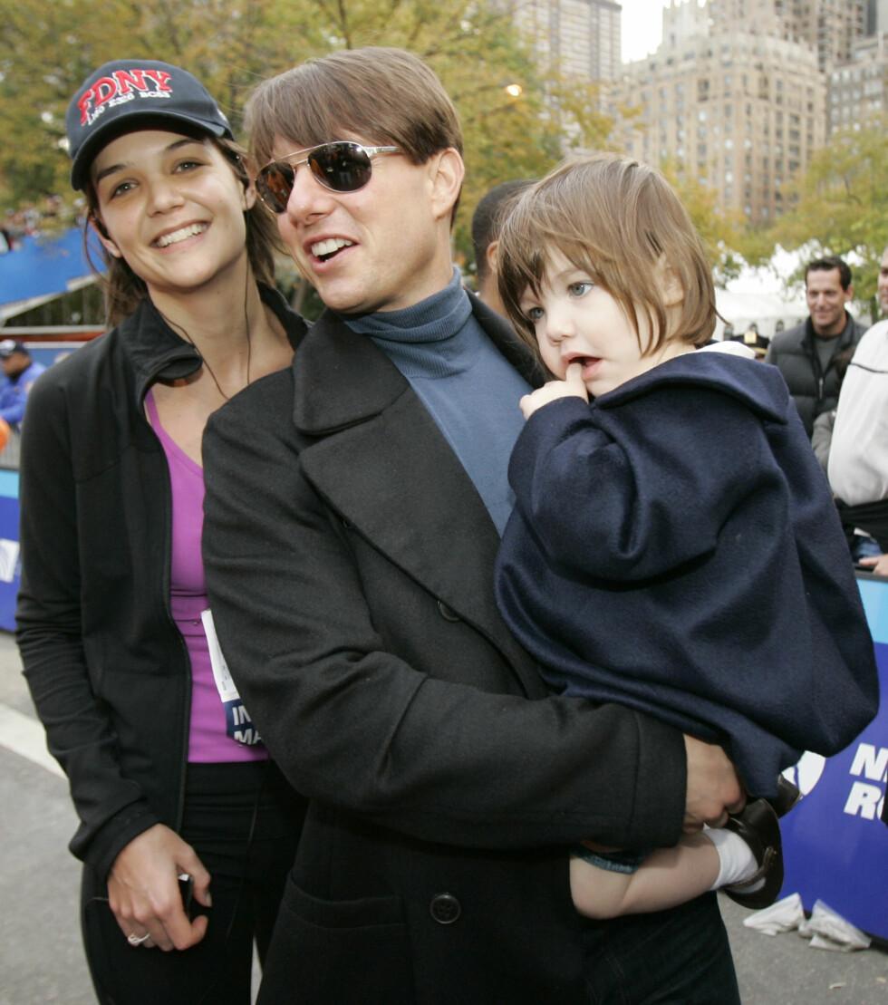 <strong>DRAMATISK BRUDD:</strong> Katie Holmes og Tom Cruise var gift mellom 2006 til 2012 og fikk datteren Suri sammen.  Foto: Ap