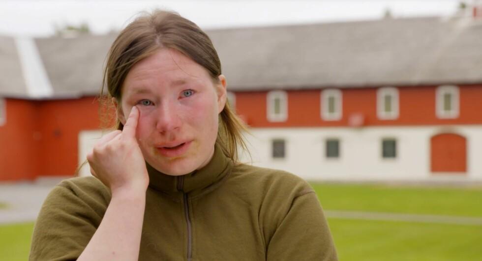 FØLELSESLADET: For to uker siden var det Sunna-Inga Gaup Aamot som ble sendt hjem fra «Jakten på kjærligheten» av Sondre Stubrud.  Foto: TV 2