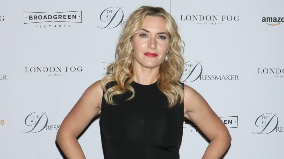 PÅ RØD LØPER: Her er Kate Winslet på premiere til sin siste film The Dressmaker i New York for to uker siden.  Foto: Rex Features