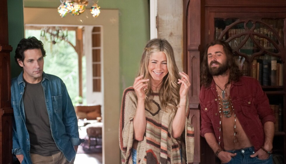 BLE KJÆRESTER: Aniston og Theroux falt pladask for hverandre under innspillingen av komedien Wanderlust for fem år siden.  Foto: APATOW PRODUCTIONS / Album