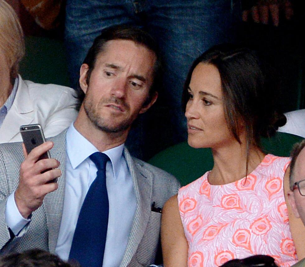 UBEHAGELIG: Hackeren skal ha fått tilgang på private bilder av Pippa Middleton og forloveden James Matthews, inkludert det som skal være nakenbilder av forretningsmannen.  Foto: Pa Photos