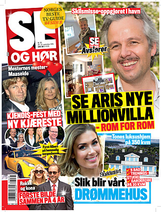 I SALG NÅ: I nyeste nummer av Se og Hør kan du se bilder fra Ari Behns nye hjem. Foto: Faksimile