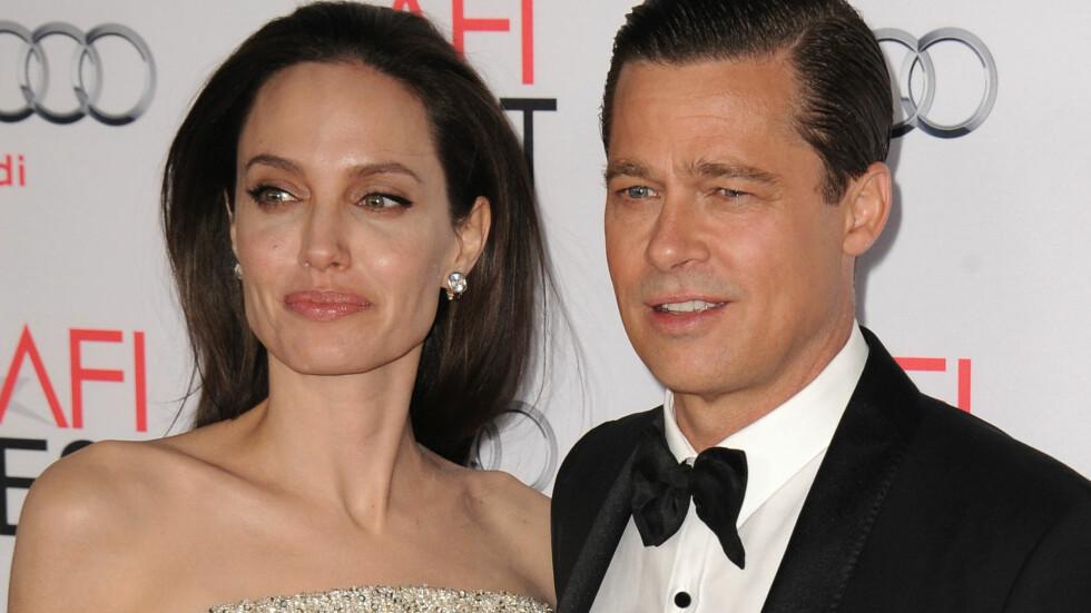 BRUDD: I 2012 forlovet Angelina Jolie og Brad Pitt seg. To år senere ga de hverandre sine ja. Nå skal ekteskapet være over. Foto: Splash News
