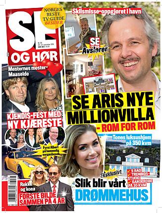 I SALG NÅ: I nyeste nummer av Se og Hør kan du lese mer om Ari Behns nye hjem. Foto: Se og Hør
