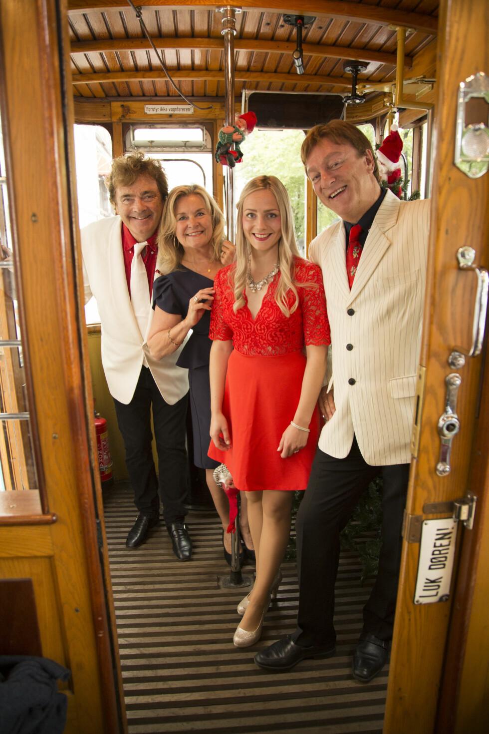 Juleturne med Elisabeth Andreassen, Øyvind Blunck,Tor Endresen og datteren Anne Sophie.