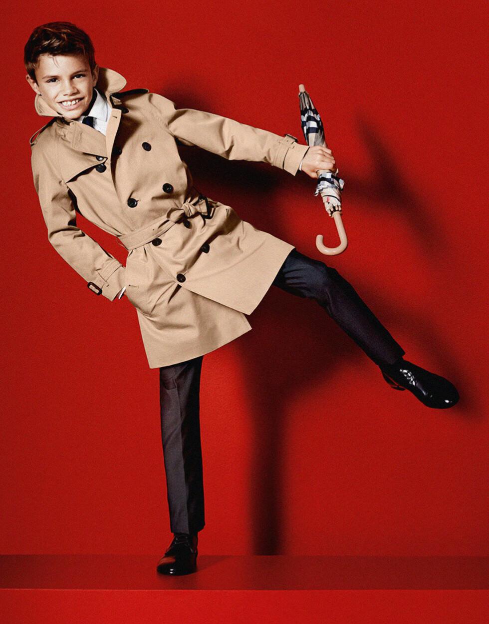 STARTET TIDLIG: Romeo Beckham sjarmerte da han for tre år siden debuterte som modell for klesmerket Burberry.  Foto: Danapress