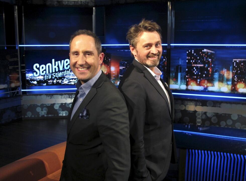 SUPERDUO: 12. september 2003 gikk det aller første Senkveld-programmet på lufta. 13 år senere holder Harald og Thomas fremdeles koken.