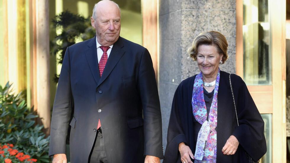 PÅ BESØK: Kong Harald og dronning Sonja ankom Finland mandag, for å gjennomføre sitt tredje statsbesøk i landet.  Foto: NTBscanpix