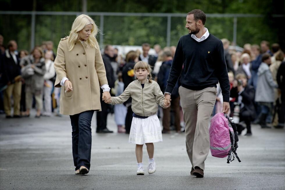 2010: Prinsesse Ingrid Alexandra første skoledag på Jansløkka skole i Asker. Foto: NTB scanpix