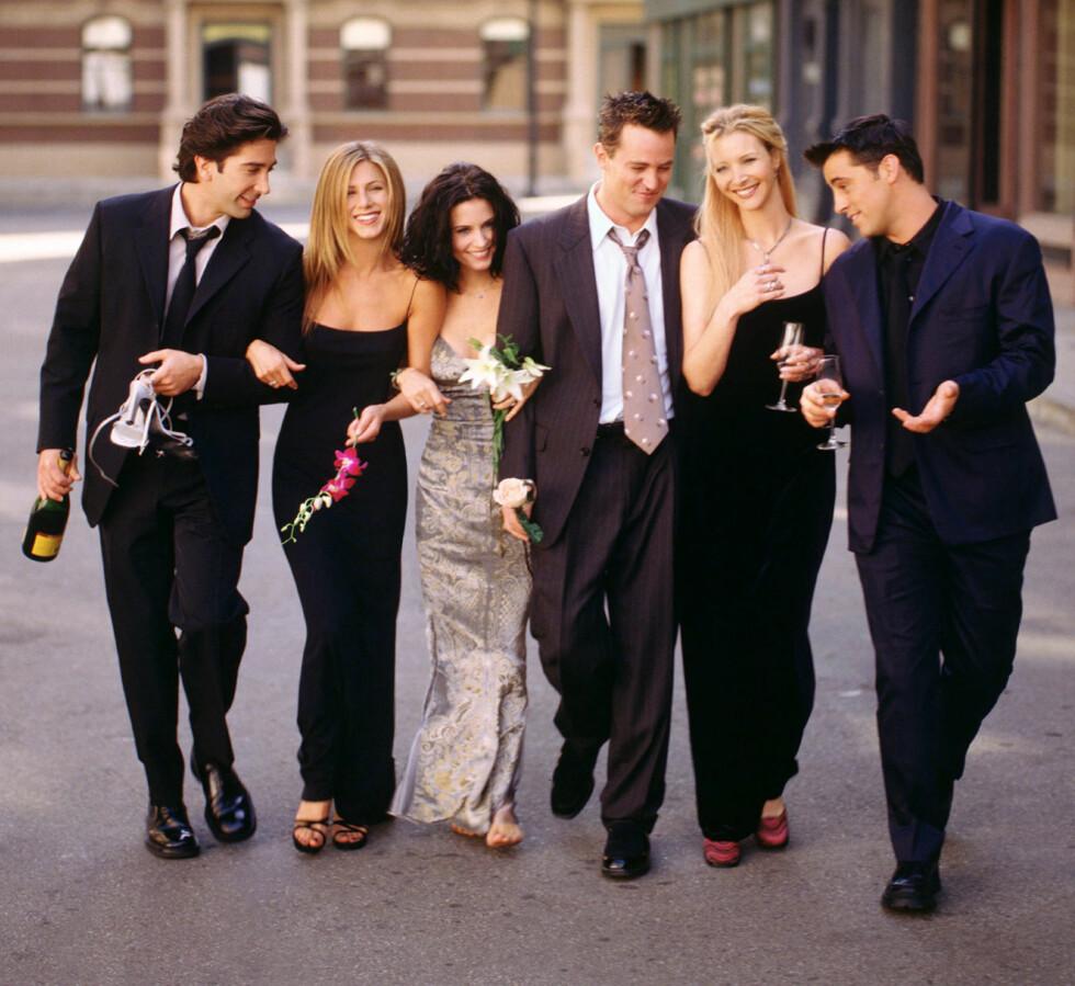 POPULÆR GJENG: Da siste episode av «Friends» ble sendt i 2004 benket hele 55 millioner mennesker seg foran skjermen. Foto: REUTERS
