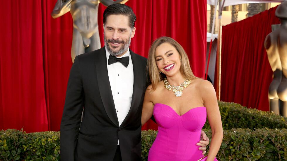 SOFIA VERGARA: Den populære «Modern Family»-stjernen er gift med skuespiller Joe Manganiello. Her fra Screen Actors Guild Awards i januar. Foto: NTB Scanpix
