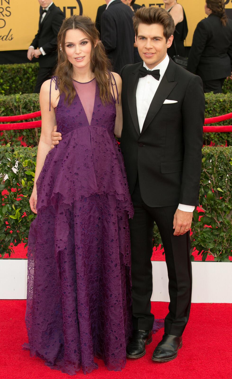FLOTT PAR: Under fjorårets SAG Awards i Los Angeles kom filmstjernen sammen med ektemannen James. Foto: wenn.com