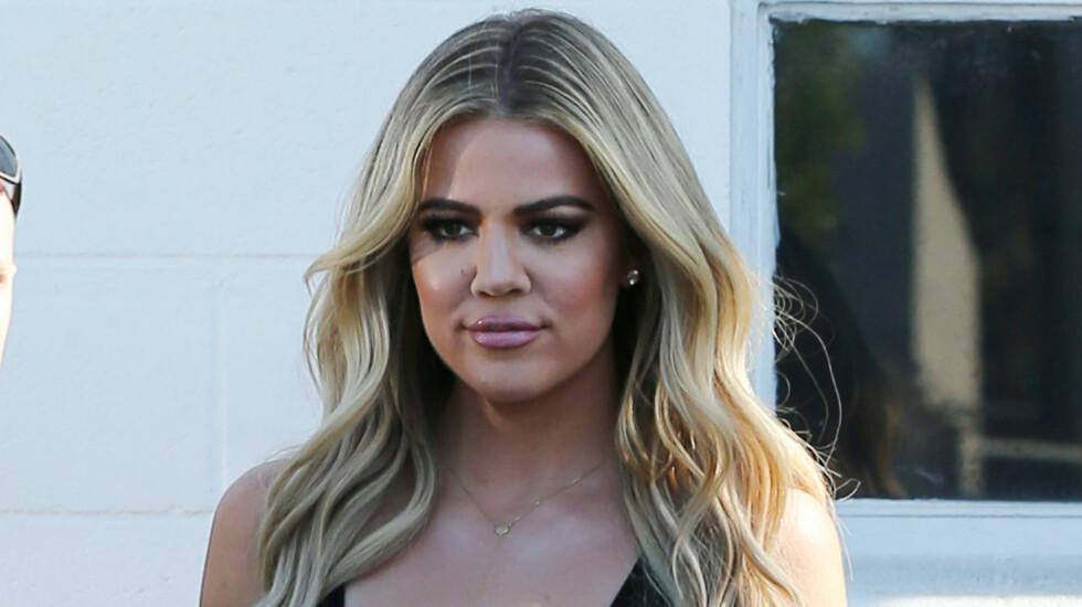 SJEKKT SEG FOR KREFT: Khloé Kardashian avslørte at hun fikk en skremmende nyhet da hun sjekket seg for hudkreft for noen år siden.  Foto: Splash News