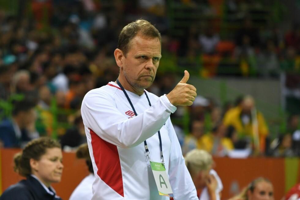 ENGASJERT: Thorir Hergeirsson er kjent som en engasjert og lidenskapelig trener. Her under OL i Rio.  Foto: Afp