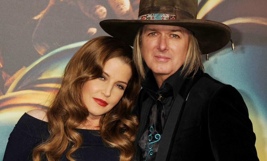 DEN GANG DA: Lisa Marie Presley og Michael Lockwood giftet seg i 2006. I fjor søkte førstnevnte om skilsmisse. Foto: NTB Scanpix