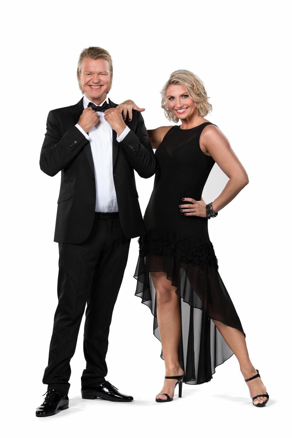 PARTNERE: Programleder Alex Rosén skal danse med Alexandra Kakurina. Foto: Espen Solli / TV2