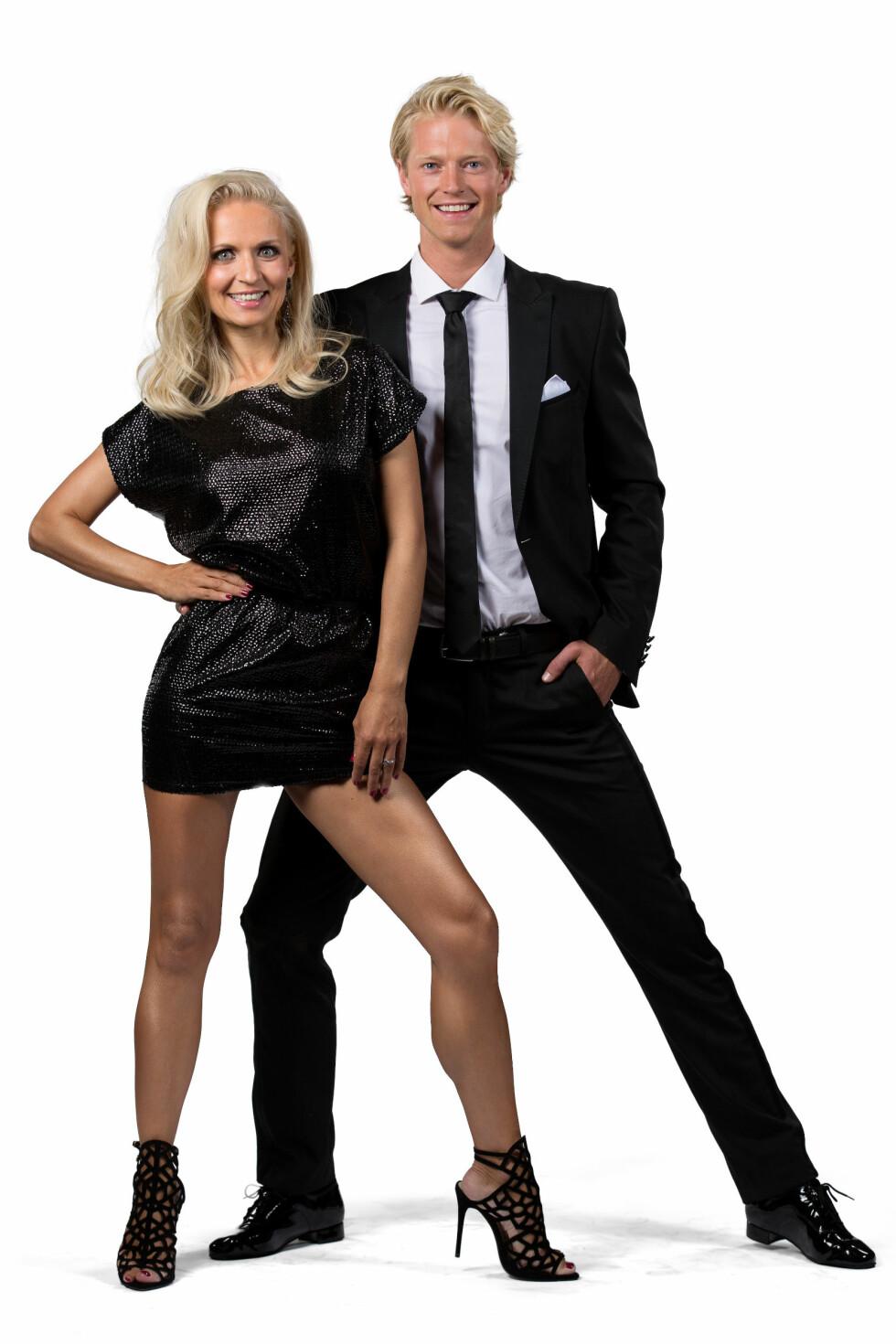 PARTNERE: «Farmen»-vinner Eilev Bjerkerud  skal danse med Nadya Khamitskaya. Foto: Espen Solli / TV2