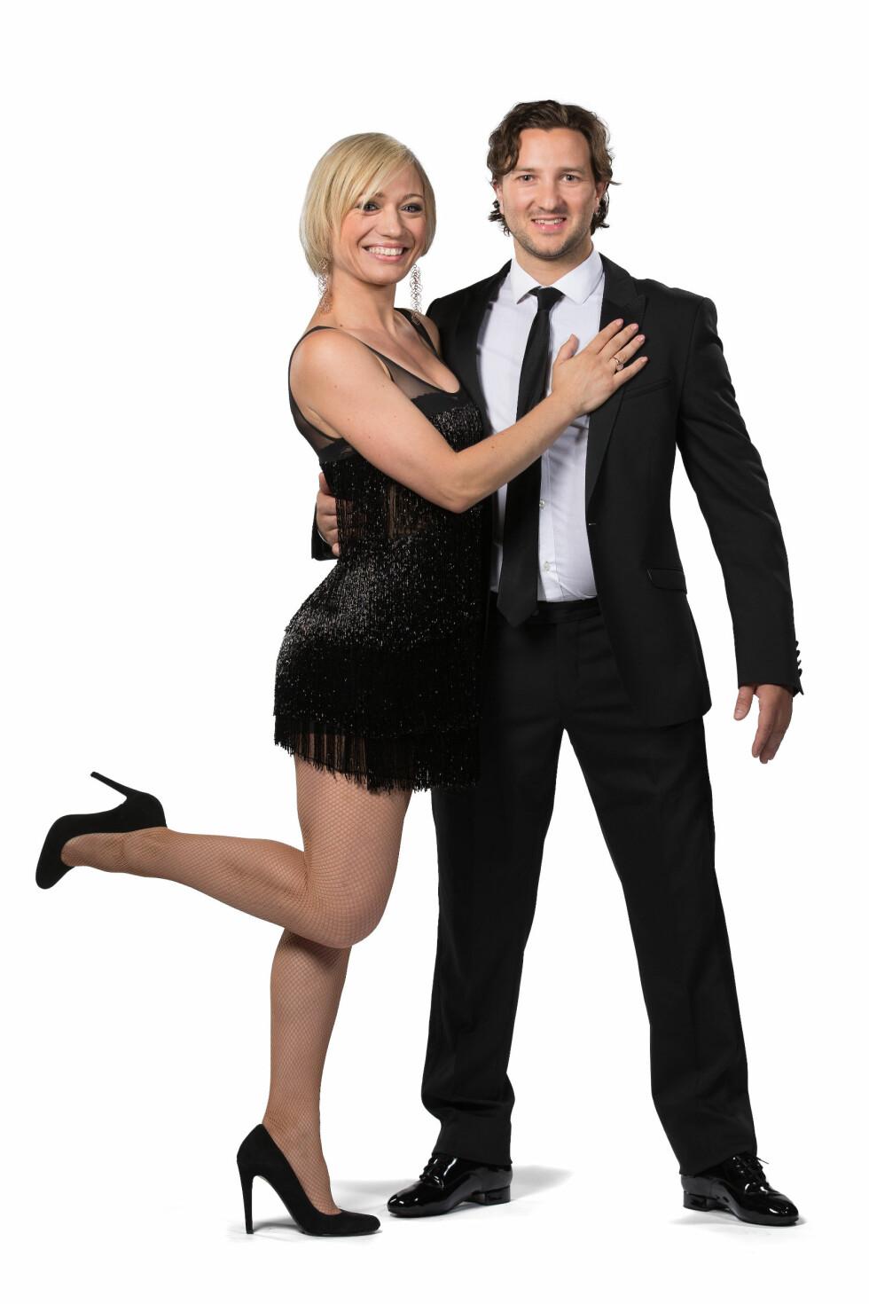PARTNERE: «Iskrigerne»-profilen og den tidligere ishockeyspilleren Glenn Jensen skal danse med Ewa Trela. Foto: Espen Solli / TV2