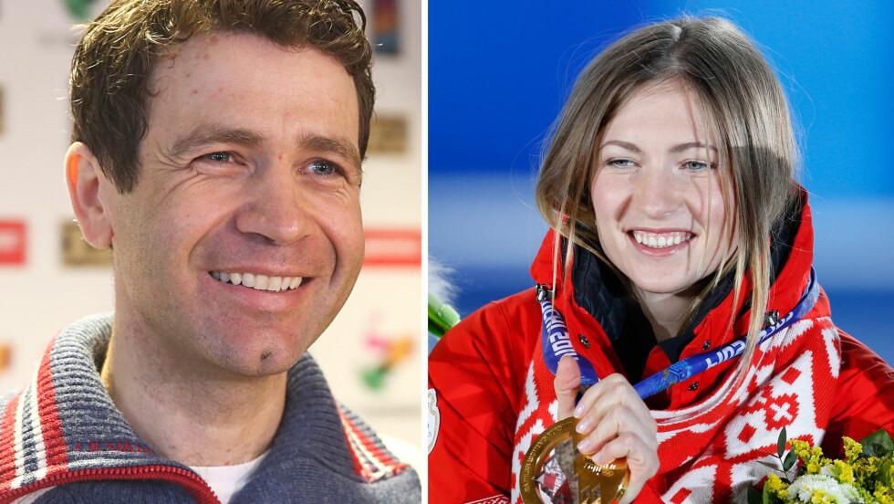 BLIR FORELDRE: Det sporty skiskytterparet Ole Einar Bjørndalen og Darja Domratsjeva venter barn i oktober. Foto: NTB Scanpix