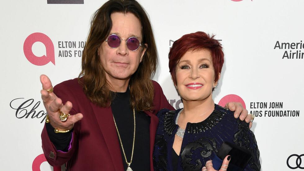 PRØVER IGJEN: Ozzy og Sharon møttes på 1970-tallet, på samme tid som Osbourne ble en stor stjerne gjennom bandet Black Sabbath. Sharon ble senere manageren hans, og har de siste årene gjort det stort som programleder i «The Talk». Paret giftet seg 4. juli 1982 og har tre barn sammen. Foto: Pa Photos