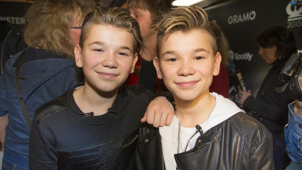 POPIDOLER: Marcus og Martinus Gunnarsen har gjort enorm suksess her til lands, men også flere land har begynt å legge merke til de populære 14-åringene.  Foto: Morten Eik