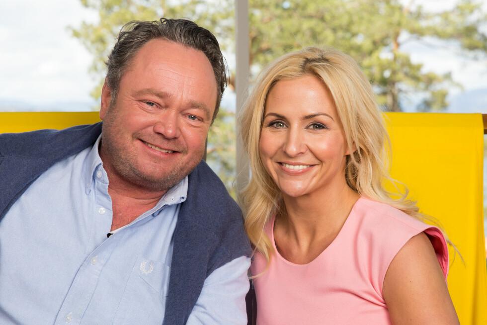 TV-AKTUELL: Denne uken leder Cathrine Fossum Hovdan «God sommer Norge» på TV 2 sammen med Fredrik Græsvik. Foto: Espen Solli/ TV 2