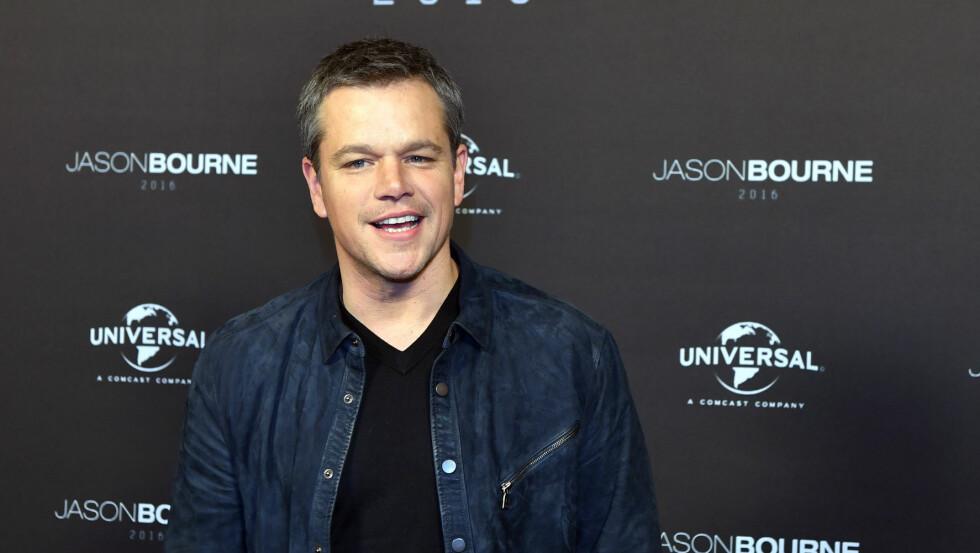 NORGESAKTUELL: I august vil den berømte skuespilleren Matt Damon være på plass i Norge for å spille inn filmen «Downsizing». Foto: DPA