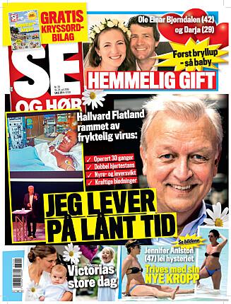 I SALG NÅ: I nyeste nummer av Se og Hør kan du lese mer om Lars Monsen og Trine Rein. Foto: Se og Hør