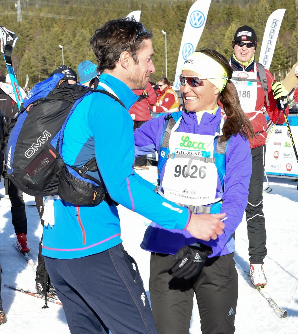 SPORTY PAR: I mars i år var både Pippa Middleton og kjæresten James Matthews deltaker i Birkebeinerrennet. Foto: Splash News
